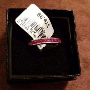 Jewelry - Sterling Silver Created Ruby Ring